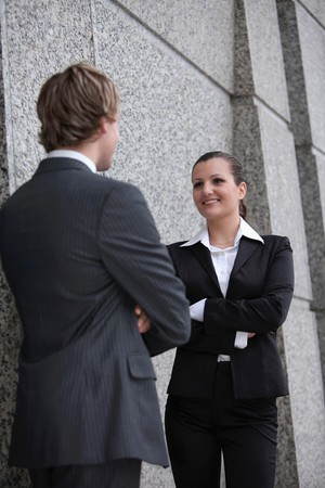 Business people talking to each other Stock Photo - 8148996