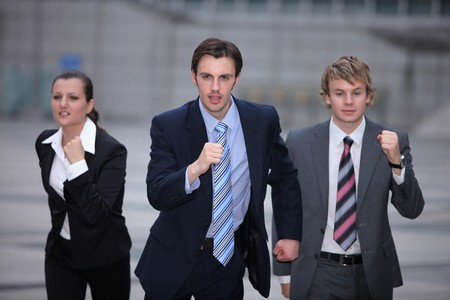 Business people running photo