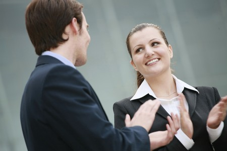 Business people clapping hands Stock Photo - 8148649