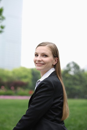 Businesswoman smiling confidently Stock Photo - 8148004