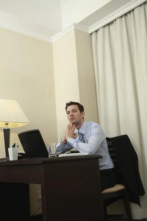 Businessman contemplating Stock Photo - 8148658