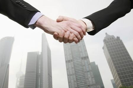 Businessmen shaking hands Stock Photo - 8148343