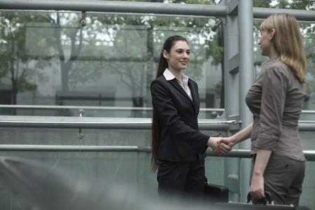 Businesswomen shaking hands photo