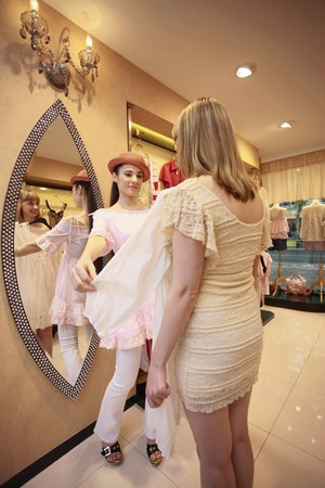 Women shopping at clothes store Stock Photo - 8149313