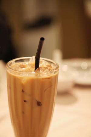 Iced milk tea photo