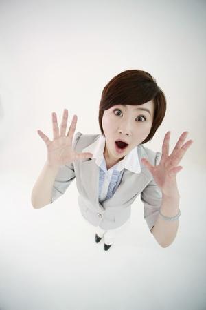 Shocked businesswoman photo