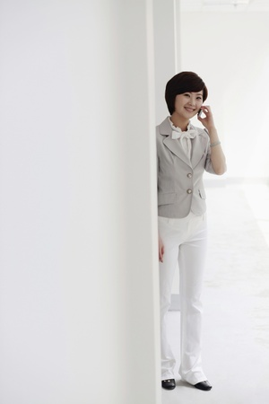 Businesswoman talking on the phone Stock Photo - 8259998