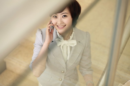 Businesswoman talking on the phone Stock Photo - 8260508
