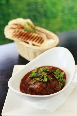 Mutton masalla with garlic bread Stock Photo - 8260133