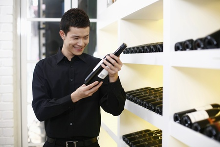 Man choosing wine photo