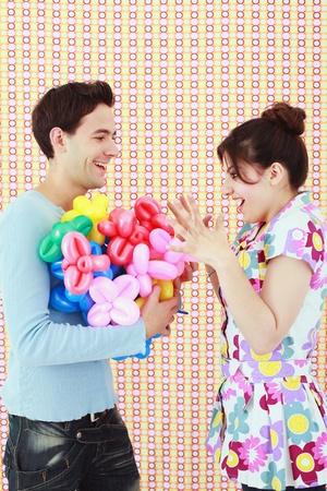 sculpted: Ontvangen van gebeeldhouwde ballonnen van man vrouw