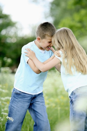 Boy and girl playing Stock Photo - 8536447