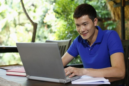 Man using laptop Stock Photo - 8536959