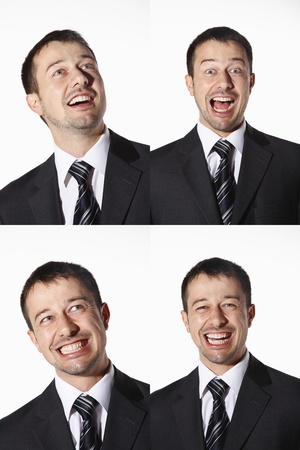 Businessman with various expressions Stock Photo - 8606126