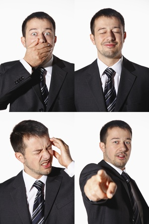 Businessman with various expressions Stock Photo - 8606162
