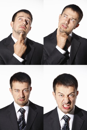 Businessman with vaus expressions Stock Photo - 8606173