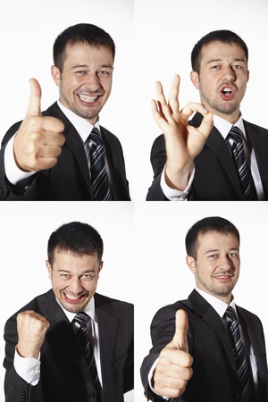 Businessman with various expressions photo