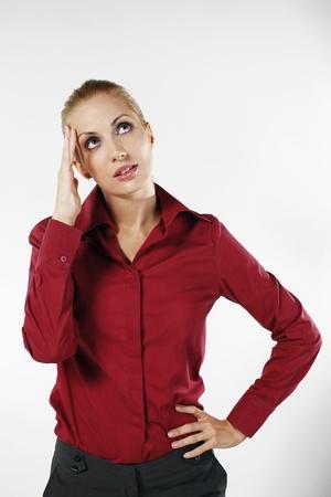 belarusian ethnicity: Businesswoman thinking