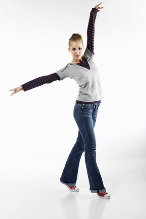 Woman dancing Stock Photo - 8735712