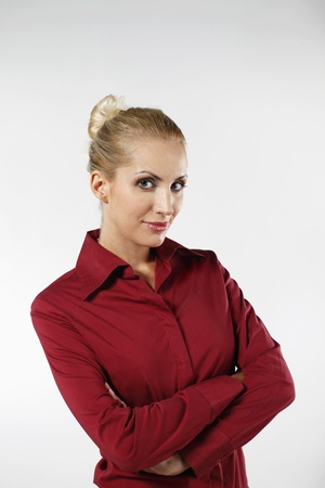 belarusian ethnicity: Businesswoman standing with her arms crossed