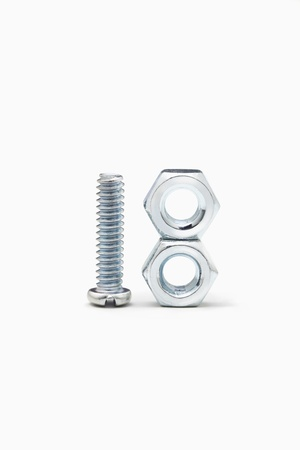 things that go together: Screw and bolts Stock Photo