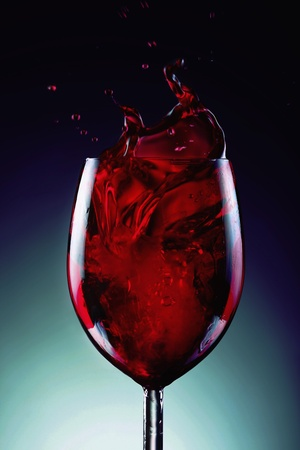 Wine splash Stock Photo