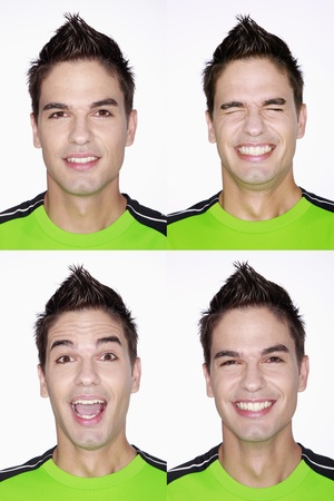 Diferentes caras de un hombre Foto de archivo - 8981256