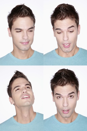 Different faces of a man Stock Photo - 8981320