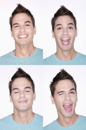 Different faces of a man Stock Photo - 8981301