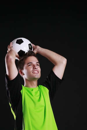Man about to throw a football Stock Photo - 8980907