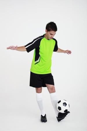 Man dribbling football Stock Photo - 8980828