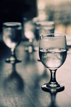 Glasses of water with ice cubes Stock Photo - 8981146