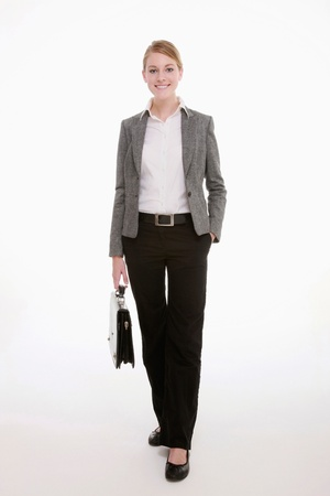 briefcase: Businesswoman carrying bag