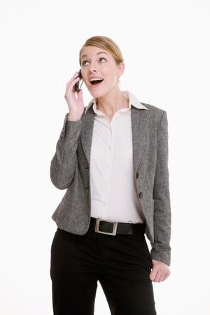 Businesswoman talking on mobile phone photo