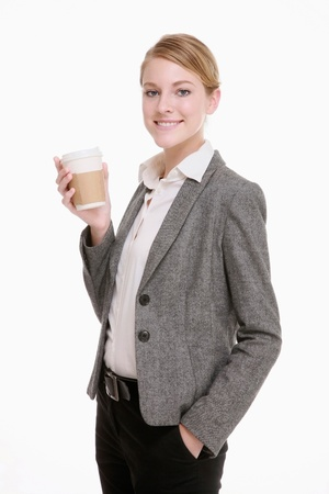 Businesswoman drinking a cup of coffee Stock fotó