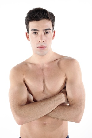 Shirtless man with his arms folded Stock Photo - 9287958