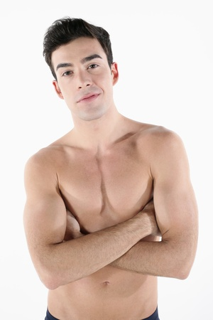 Shirtless man with his arms folded Stock Photo - 9287802