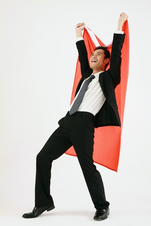 Businessman celebrating his success Stock Photo - 9521401