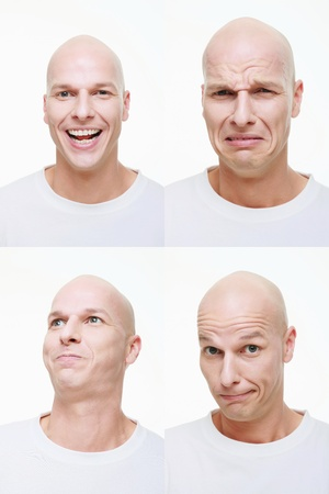 Man making a series of exaggerated faces for the camera Stock Photo - 9525927