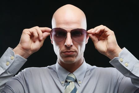 Man wearing sunglasses Stock Photo - 9525649