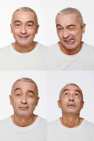 Man making a series of exaggerated faces for the camera Stock Photo - 9525600