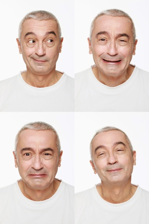 Man making a series of exaggerated faces for the camera Stock Photo - 9525598