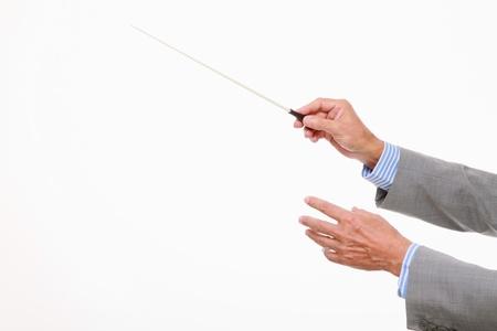 Businessman conducting photo