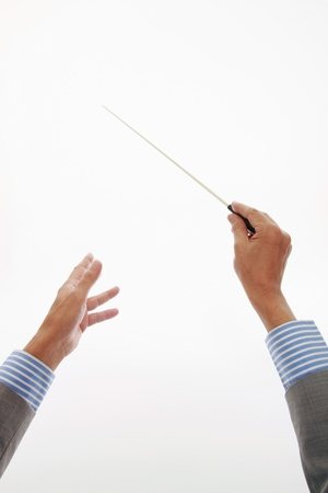 conductor: Businessman conducting