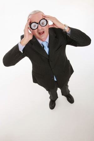 Businessman with funny glasses photo