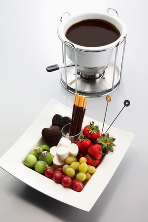 Chocolate fondue photo