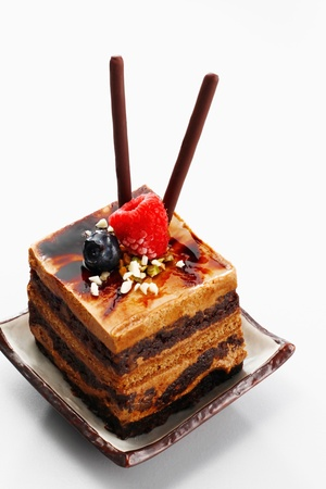 Chocolate coffee layered cake  Stock Photo - 9521408