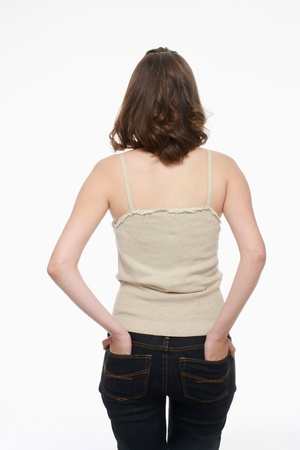 Woman with hands in the back pockets Stock Photo - 9605485
