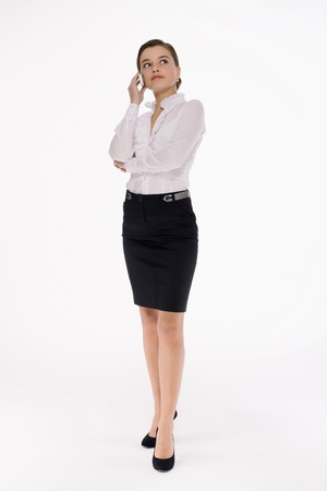 Businesswoman talking on the mobile phone Stock Photo - 9605209