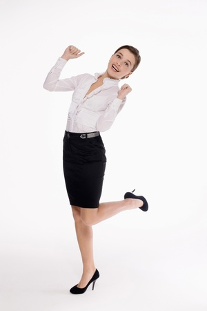 Businesswoman celebrating her success Stock Photo - 9605146